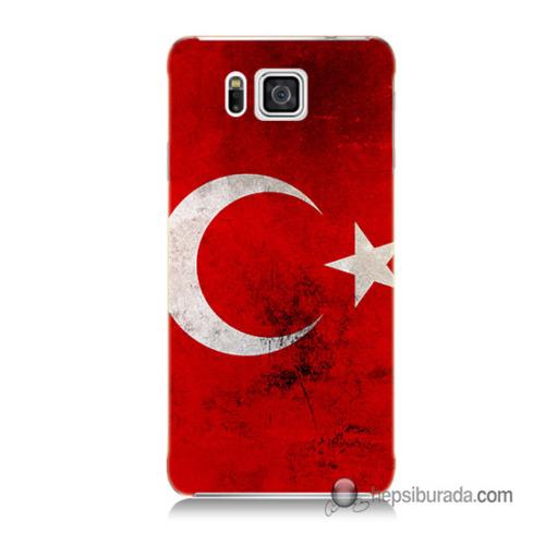 Teknomeg Samsung Galaxy Alpha G850 Kapak Kılıf Türkiye Baskılı Silikon