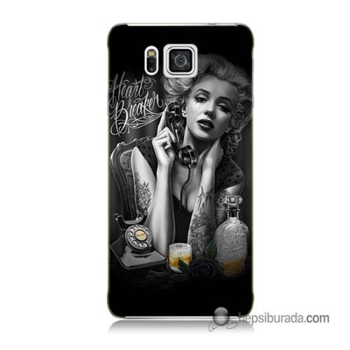 Teknomeg Samsung Galaxy Alpha G850 Kapak Kılıf Heartbreaker Baskılı Silikon