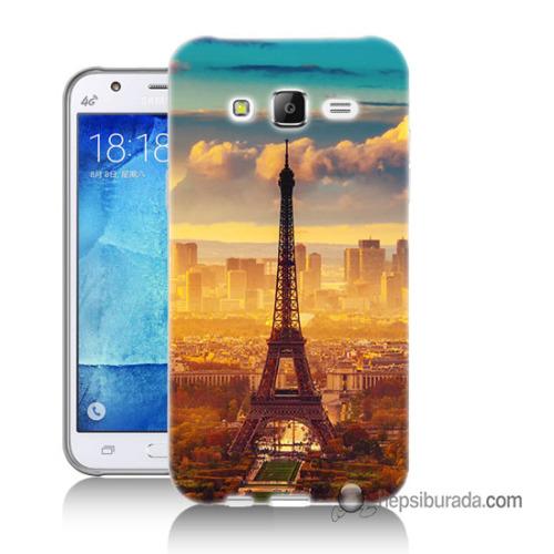 Teknomeg Samsung Galaxy J5 Kapak Kılıf Eyfel Ve Paris Baskılı Silikon