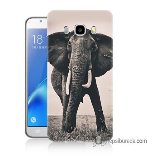 Teknomeg Samsung Galaxy J7 2016 Kılıf Kapak Fil Baskılı Silikon