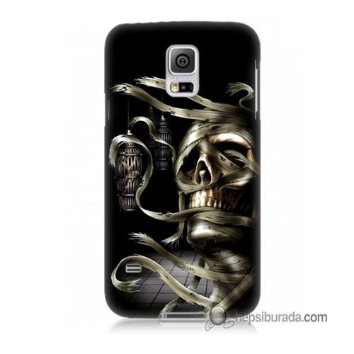 Teknomeg Samsung Galaxy S5 Mini Kapak Kılıf Mumya Baskılı Silikon