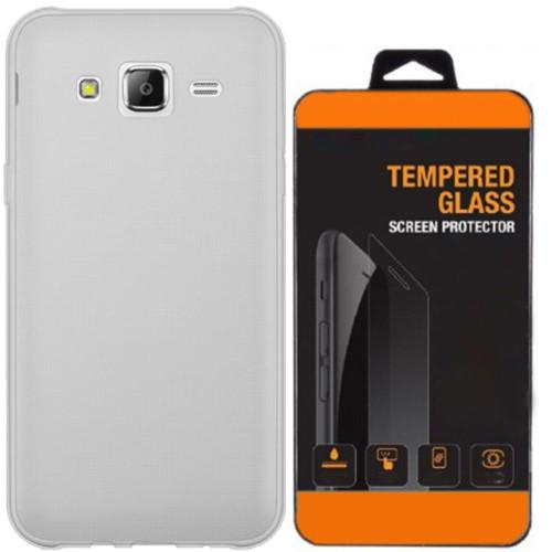 Kılıfland Samsung Galaxy J2 Kılıf 0.2 Silikon Şeffaf+Temperli Cam