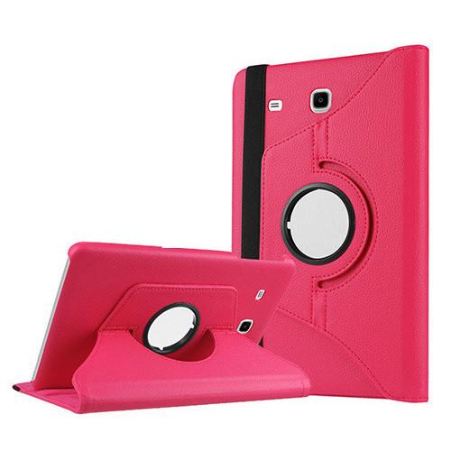 Kılıfland Samsung Galaxy Tab E T560 Kılıf 360 Standlı Pembe+Film+Kalem