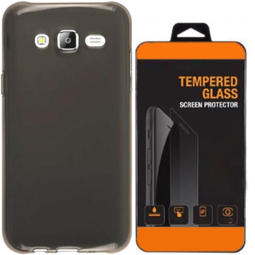 Kılıfland Samsung Galaxy S7 Kılıf 0.2 Silikon Siyah+Temperli Cam