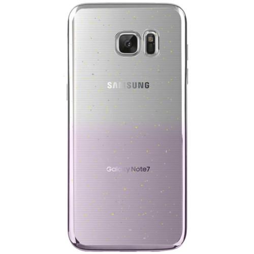 Cepsesuar Samsung Galaxy Note 7 Kılıf Silikon Lazer Simli Gümüş + Kırılmaz Cam