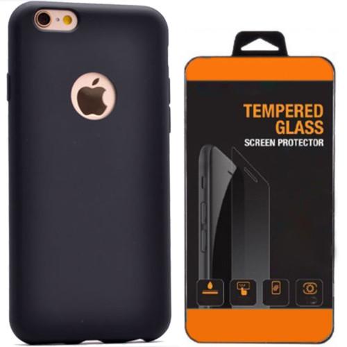 Kılıfland Apple iPhone 6 6S Kılıf Premier Soft Silikon Kırılmaz Cam Film