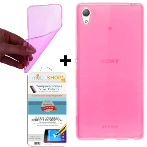 Mobil Shop Sony Xperia M4 Aqua Kılıf 0.2MM Silikon (Kırılmaz Cam)