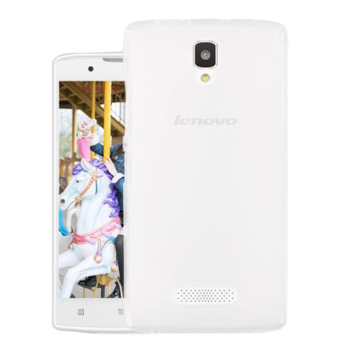 Microsonic Lenovo A2010 Kılıf Transparent Soft Beyaz