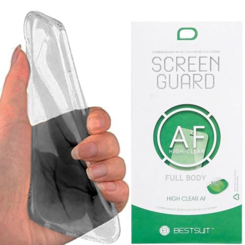 Kılıfland Samsung Note Edge Kılıf Silikon Siyah+ Kavisli Ekran Koruyucu Film
