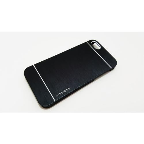 Motomo Apple İphone 5 - 5S Motomo Siyah Metal Kapak Kılıf