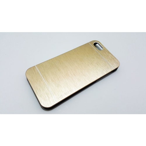 Motomo Apple İphone 5 - 5S Motomo Gold Metal Kapak Kılıf