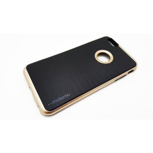 Motomo Apple İphone6 Plus-Plus S Motomo Gold Kenar Silikon Kılıf