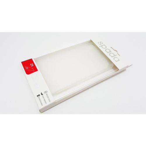 Spada Sony Xperia Z5 Spada Şeffaf Beyaz Silikon Kılıf