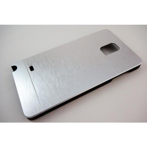 Motomo Samsung Galaxy Note 4 Motomo Gümüş Kılıf