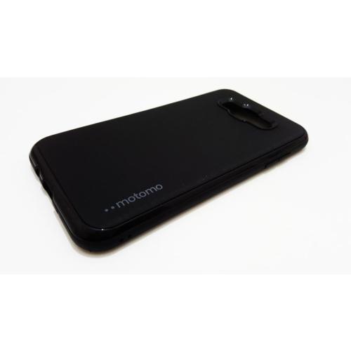 Motomo Samsung Galaxy J7 Motomo Rubber Sert Silikon Siyah Kılıf