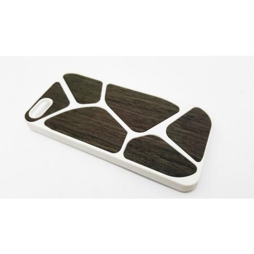 Mobillife Apple İphone 5/5S Rubber Silikon Ahşap Siyah Desenli Kılıf