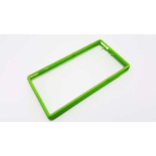 Mobillife Sony Xperia Z Yeşil Kenar Silikon Rubber Kılıf