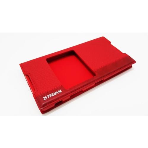 Mopal Sony Xperia Z5 Premium Mopal Kapaklı Pencereli Kırmızı Kılıf