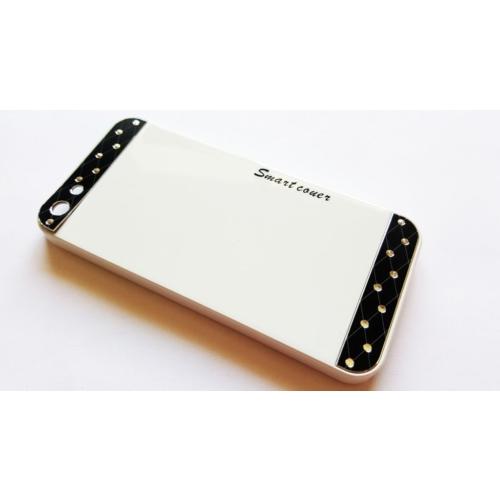 Mobillife Apple İphone 5/5S Smart Cover Beyaz Rubber Silikon Kılıf