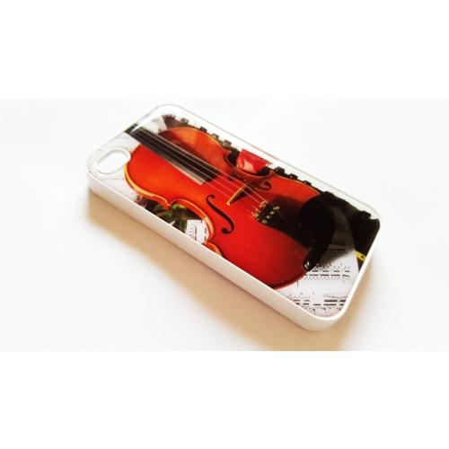 Mobillife Apple İphone 4/4S Beyaz Kenar Kemanlı Silikon Rubber Kılıf