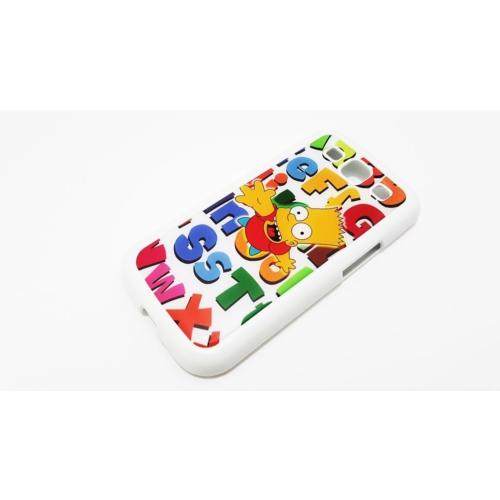 Mobillife Samsung Galaxy S3 Bart Simpson Beyaz Rubber Silikon Kılıf