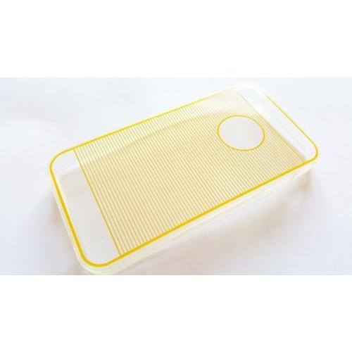 Mobillife Apple İphone 4/4S Sarı Çizgili Silikon Kılıf