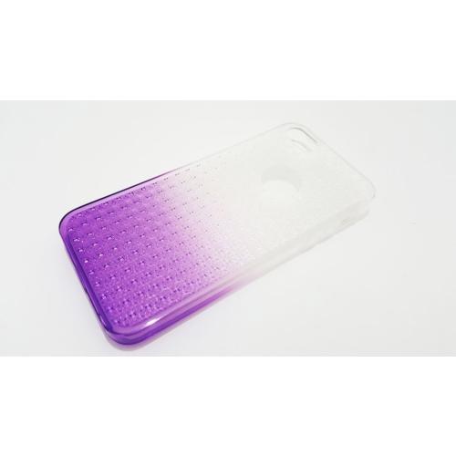 Mobillife Apple İphone 5/5S Buzlu Mor Yumuşak Silikon Kılıf