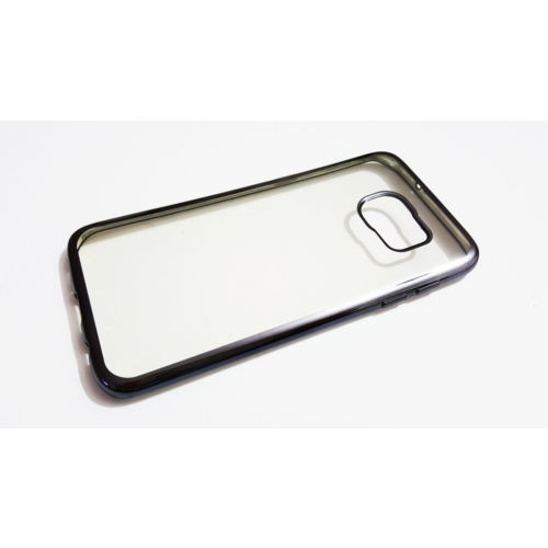 Mobillife Samsung Galaxy S7 Edge Siyah Kenar Yumuşak Silikon Şeffaf Kılıf