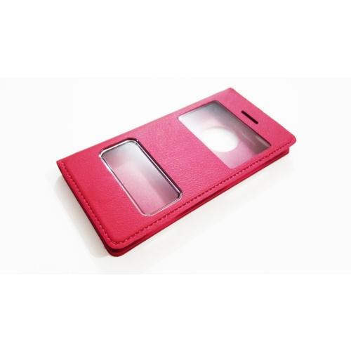Mobillife Apple İphone 4/4S Pembe Kapaklı Pencereli Kılıf