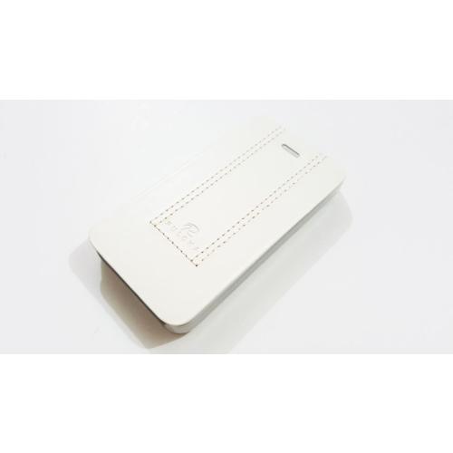 Mobillife Apple İphone 4/4S Puloka Beyaz Deri Kapaklı Cüzdanlı Kılıf