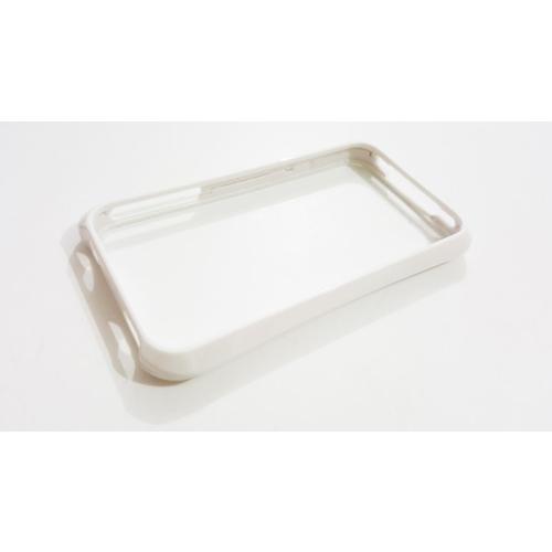 Mobillife Apple İphone 4/4S Çıtçıtlı Beyaz Silkon Bumper Çerçeve