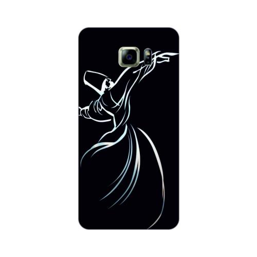 Bordo Samsung Galaxy Note 7 Kapak Kılıf Semazen Mevlana Baskılı Silikon