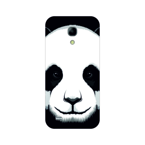 Bordo Samsung Galaxy S4 Mini Kapak Kılıf Panda Baskılı Silikon