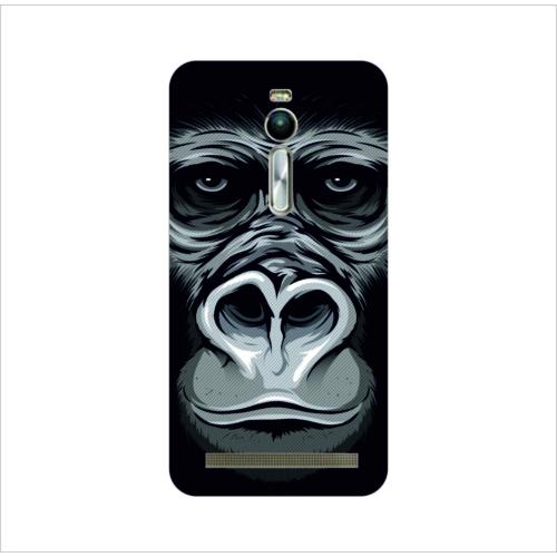 Bordo Asus Zenfone 2 Kapak Kılıf Goril Baskılı Silikon