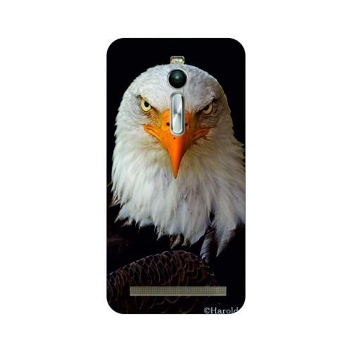 Bordo Asus Zenfone 2 Kapak Kılıf Kartal Baskılı Silikon