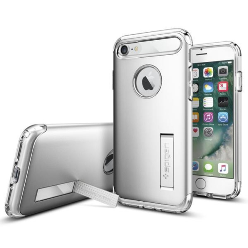 Spigen Apple iPhone 8 - iPhone 7 Kılıf Slim Armor Satin Silver 042CS20305