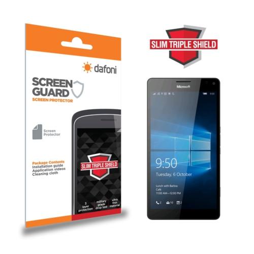 Dafoni Microsoft Lumia 950 Slim Triple Shield Ekran Koruyucu