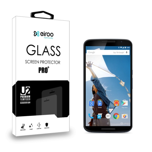 Eiroo Motorola Nexus 6 Tempered Glass Cam Ekran Koruyucu