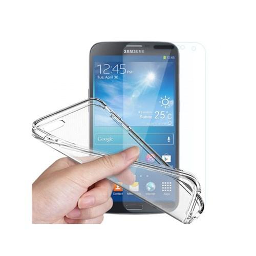 Angel Eye Samsung Galaxy J1 Kırılmaz Cam Ekran Koruyucu + Şeffaf Silikon Kılıf