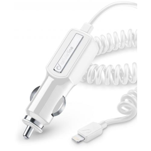 Cellular Line Lightning Araç Şarjı Beyaz