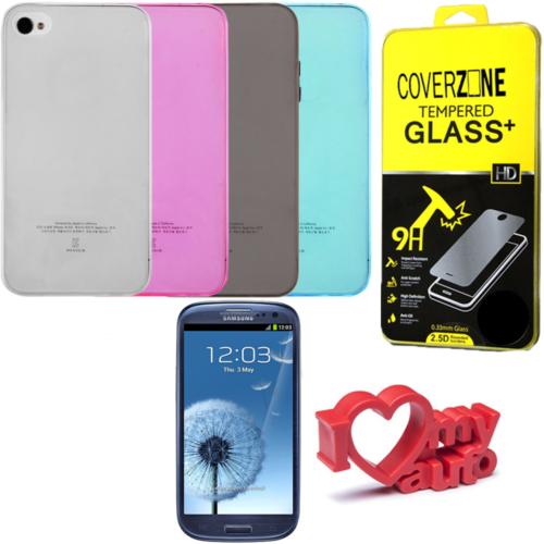 CoverZone iPhone 7 Plus Kılıf 0,3mm Silikon + Temperli Cam + Araç Kokusu