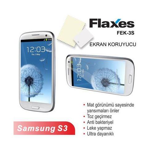 Flaxes Fek-3S Galaxy S3 Uyumlu Mat Ekran Koruyucu Fek-3S