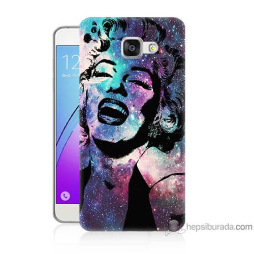 Bordo Samsung Galaxy A7 2016 Marilyn Monroe Baskılı Silikon Kapak Kılıf