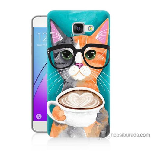 Bordo Samsung Galaxy A7 2016 Kahve Keyfi Baskılı Silikon Kapak Kılıf