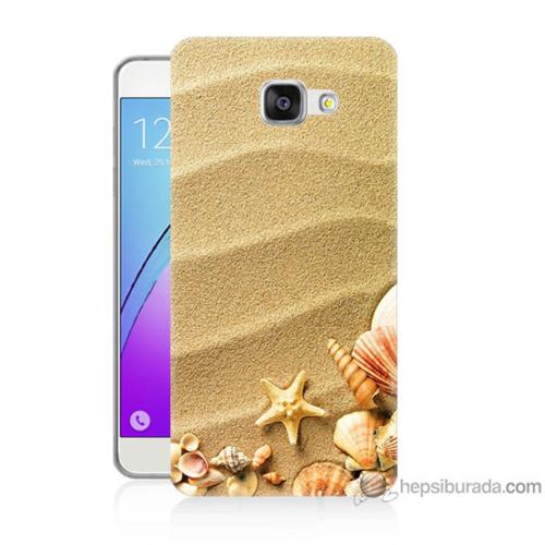 Bordo Samsung Galaxy A3 2016 Deniz Yıldızı Baskılı Silikon Kapak Kılıf