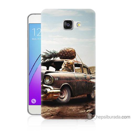 Bordo Samsung Galaxy A5 2016 Korkunç Araba Baskılı Silikon Kapak Kılıf