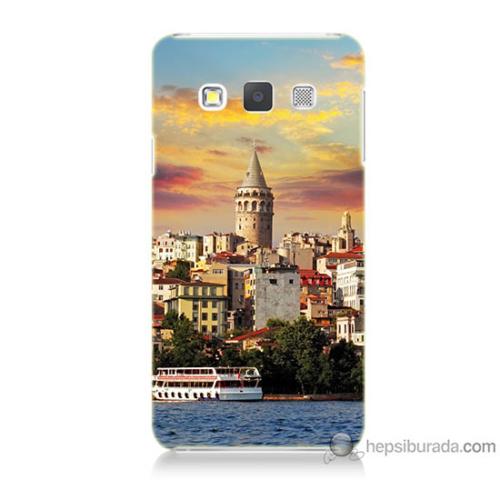 Bordo Samsung Galaxy A3 İstanbul Galata Baskılı Silikon Kapak Kılıf