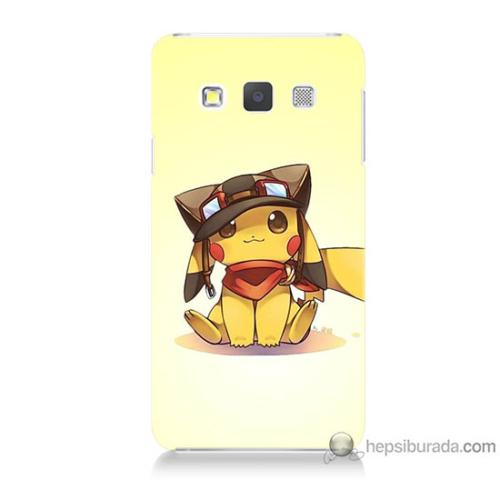 Bordo Samsung Galaxy A5 Pokemon Baskılı Silikon Kapak Kılıf