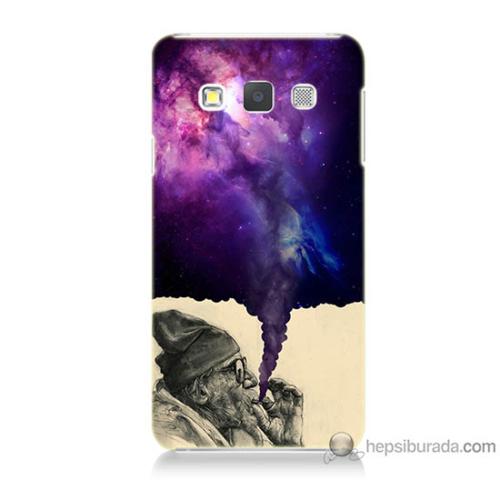 Bordo Samsung Galaxy A7 Hayal Gücü Baskılı Silikon Kapak Kılıf