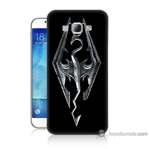 Bordo Samsung Galaxy A8 Ejderha Baskılı Silikon Kapak Kılıf